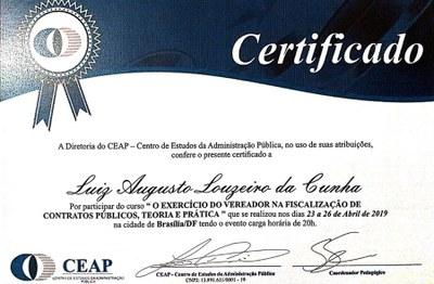 Certificado Luiz Augusto