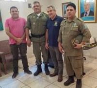 Presidente da Câmara recebe comando do 7º Batalhão Polícia Militar