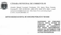 Aditivo 004/2020 suspensão concurso público