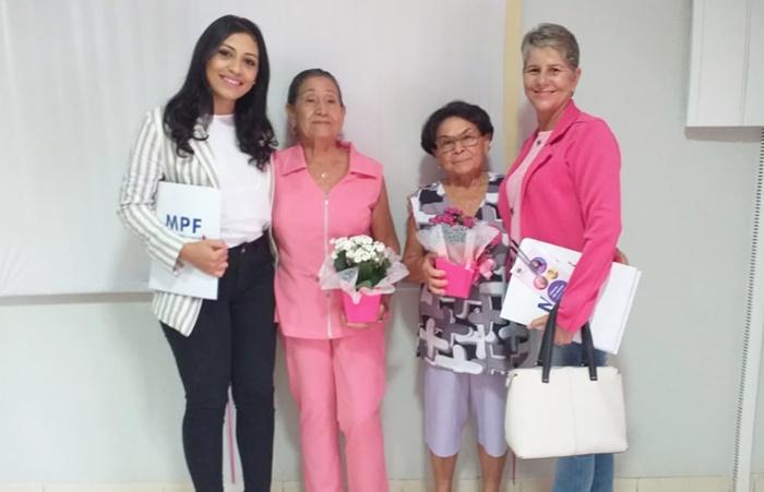 Vereadora Naira participa da campanha Outubro Rosa promovida pelo MPF